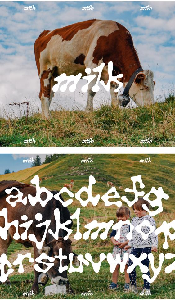 Milk typeface ; Artur Un