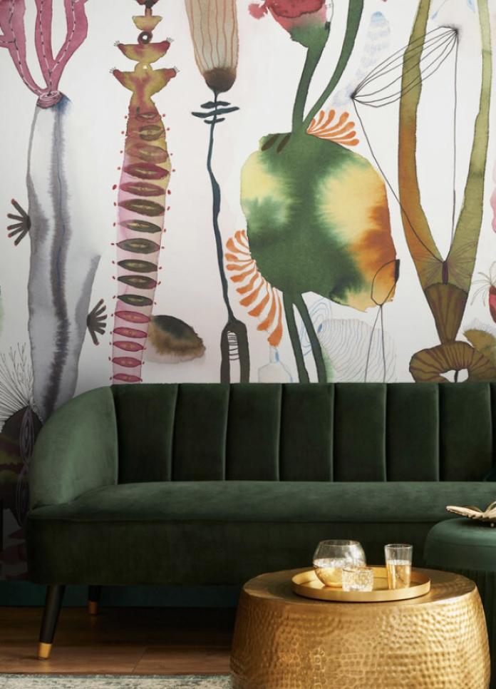 Watercolored abstract wallpaper ; Suyao Tian